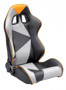 Quality Adjustable Style PU / PVC Leather Racing Seat / Sports Car Seat with single for sale
