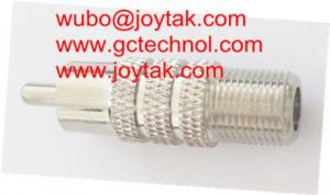 China Coaxial Adapter Coaxial Adaptor RCA Male To F Female Screw On CCTV Antenna / RCAM.FF.03 on sale