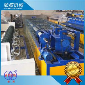 China Chain Link Fence Making Machine 4.2m Weaving Breadth PLC automatic controller on sale