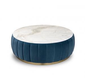China Florence Center Living Room Table Sets Blue Velvet Upholstered Body on sale