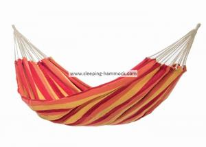 China Outdoor Quick Dry Heavy Duty South American Hammock Ocean Replacement Orange Yellow Stripe on sale