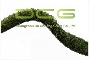 China W Shape Curl Synthetic Fake Grass Rug / Commercial Artificial Turf High Density on sale