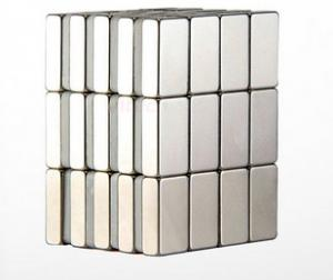China High Strength Rare Earth Magnet Block , Square Neodymium Magnets High Remanence on sale