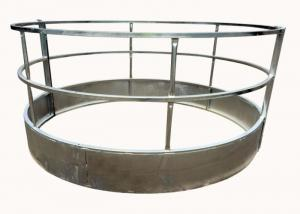 China Round Bale Hay Feeder withloop Top for Livestock Farm 1.5X2Meter With Diameter 1350MM on sale