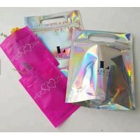 China Bagease Multiple Use Candy Pack Holographic Clear Front Packaging Zipper Bag Wholesale Retail Heat Seal Bag For Popcorn on sale
