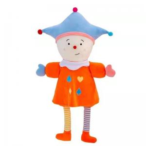 China 35cm Clown Plush Doll Plush Toys Pacify Circus Clown Doll 100% PP Cotton on sale