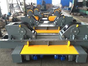 China Rubber / Metal Conventional Pipe Welding Rollers 100T For Tank Fit Up Welding on sale