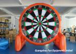 China Customized Size Inflatable Sport Games , Airtight Giant Inflatable Foot Darts wholesale