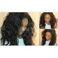 China Natural Black Unprocessed Virgin Brazilian Hair , Water Wave Human Hair Extensions  on sale