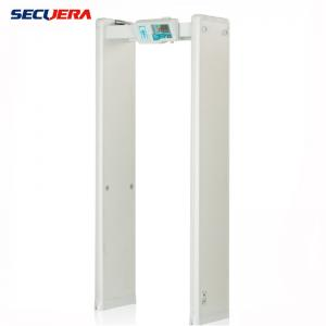 China Security Full Body Scanner Walk Through Metal Detector cost effective 6 detection zones on sale