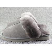 Luxury Men Merino Mens Fur Lined Slippers Comfortable With 7 -11 USA Sizes