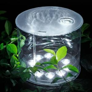 China Waterproof Cylindrical 10leds Solar Powered Led Lights, Inflatable Light Foldable Camping Lamp on sale