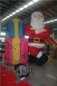 China promotion inflatable christmas santa /oxford cloth santa/inflatable santa claus for sell on sale