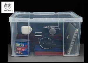China 45Ltr Plastic Usefull Crate with Clip-lock lid container For hang foolscap files on sale