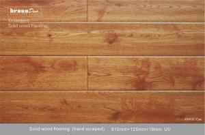 China Oak E0 Mixed Grade Antique Wood glueless Flooring with Density 0.69 - 0.79g / cm3 on sale