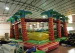 China Inflatable soft moutain sport game inflatable jumping hill with safety net wholesale