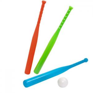China Hollow 24 Inch Plastic Baseball Bats , Blue Red Childrens Plastic Toys on sale