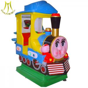 China Hansel wholesale coin operated train kiddie rides kids game machine for mall on sale