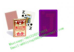 China Copag Texas Hold'em red plastic marked cards for poker cheat/luminous playing cards/uv perspective sunglasses/game cheat on sale