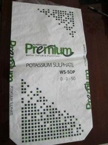 China Potassium Sulphate Bopp Lamination PP Woven Bags 8 X 8 To 16 X 16 Weave on sale