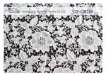 Nylon Cotton Embroidered Lace Fabric with 120cm Width CY-CX108