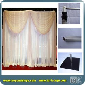 China Stage Backdrop Stand with Aluminum Pipe and Drape for Wedding Decor/Concert Decor/Hotel Hall Decor on sale