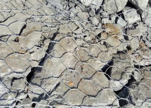 China Rock Filled Gabion Wire Mesh , Garden Fence Hexagonal Wire Netting Zinc Coating on sale