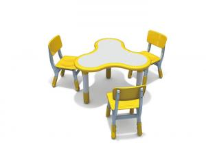 China Trifoil Shape Kindergarten Classroom Tables With Adjustable And Combinable Feature on sale