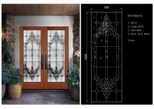 China Bright / Round Tempered Beveled Edge Glass Theft Proof For Home School on sale