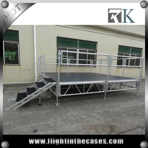 China Used aluminium portable stage concert stage decoration with plywood platform small stage on sale