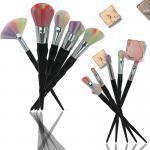 Black Diamonds Flower Makeup Brush Kit Loose Powder Makeup Tools Synthetic Hair