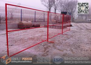 China 8ft Temporary Construction Fencing with 1 square tube frame and high visible RED color on sale