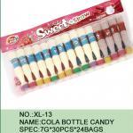Caramelo dulce del polvo del azúcar de la cola de la botella de la paja con diversos sabor/color