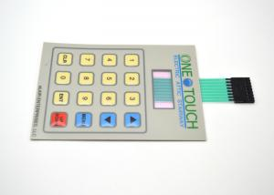 China Flat / Embossed Push Button Membrane Switch Keyboard With LCD Display Window on sale