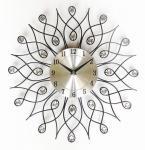 直径38cmの家の装飾のための黒い渦巻の方法水晶柱時計