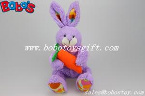 China Easter Plush Toy Purple Bunny Rabbit Animal Holding Orange Carrot on sale