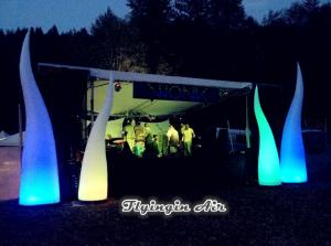 China 3m Concert Light, Beautiful Inflatable Fire, Inflatable Light Cone for Decoration on sale