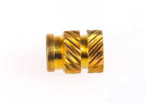 China OEM Precision Brass Knurled Nut / Brass Insert Fittings For Plastics Connector on sale