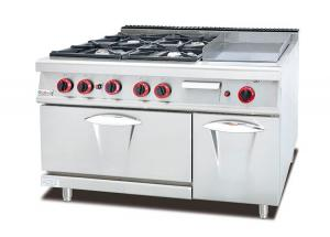 China Multi-Functional Western Kitchen Equipment Gas Range With Griddle / Grill Combination on sale