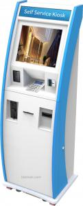China All in one Custom Bill Payment Kiosk ,Interactive Kiosk, ATM Machine with Bank Card Reader & Cash Dispensser on sale