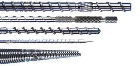 China Pipe Twin Screw Extruder Parts , Injection Molding Screws And Barrels Even Mixing on sale