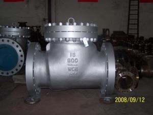 China OEM WCB / LCB / LCC case steel swing check valve, class 150 / 300 / 600 on sale