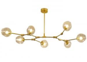 China Postmodern creative glass Molecular Chandelier dining room lamp living room lamp chandelier on sale