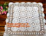 round crochet tablecloth white round tablecloths, Corcheted Lace Table linen, Tablecloth
