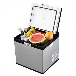 China 28L Portable Car Cooler Fridge With Trolley Handle And Anti - Vibration Design on sale