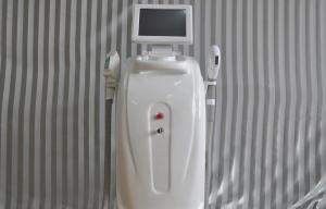 China Home SHR IPL two handles Painless Laser Hair Removal Machine Water Cooling on sale