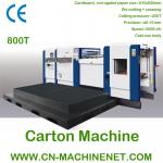 ZJ-800Tのボール紙および波形シートを型抜きするために機械を作る自動カートン箱