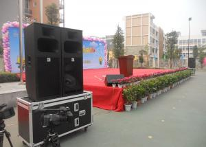 China Outdoor Passive Pa System Stage Audio Speaker Box Concert Equipment , Dj Sound Speaker on sale