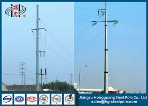 China Hot Dip Galvanized Dodecagonal Electrical Power Pole with Cross Arms on sale