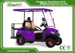 Fuel Type Electric Golf Car 350AH 3.7W Aluminium Electric Hunting Carts Framework Purple